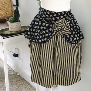 Byblos seashell print vintage skirt